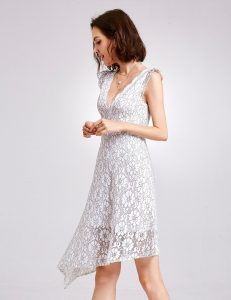 V-Neck Lace Party Dress