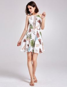 Botanical Printed Mini Dress
