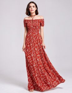 Crimson Maxi Dress