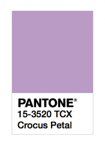 pantone crocus petal color