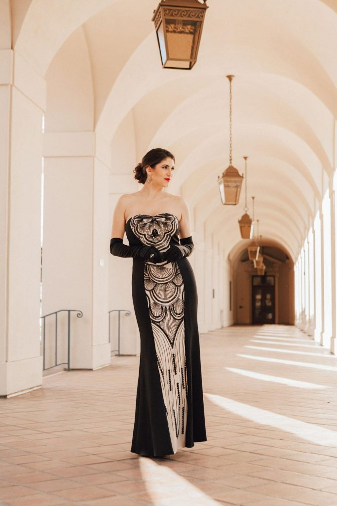 art deco beaded gown laura lily