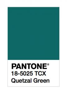 pantone quetzal green
