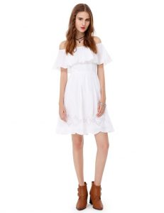 Off-The Shoulder Embroidered Dress