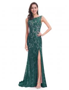 quetzal green evening dress