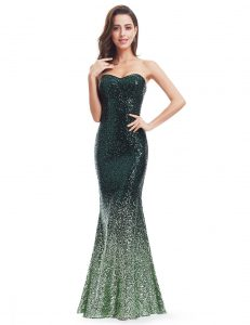 green sequin sparkle evening dress
