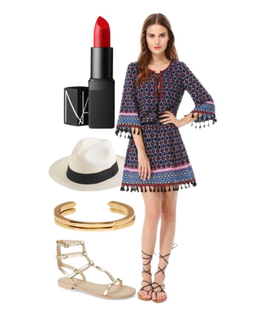 bohemian chic dress and accessories