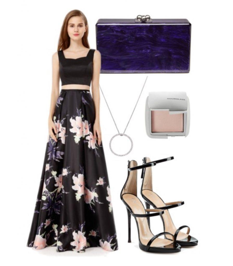evening wedding resort dress and accessories