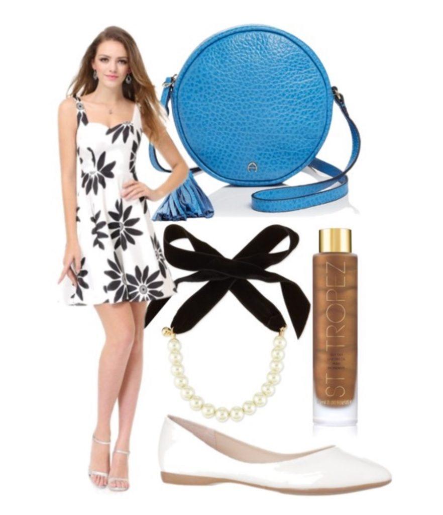 key west preppy summer dress look