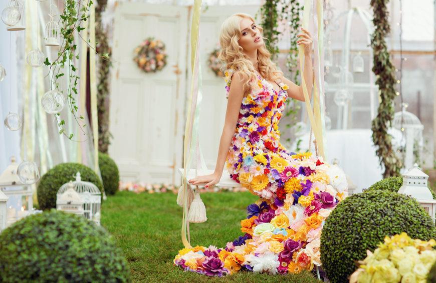 a-beautiful-woman-wears-a-floral-dress