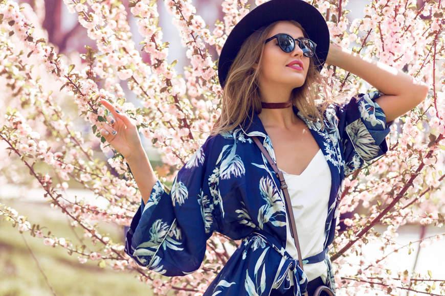 a-woman-wears-a-blue-print-blouse