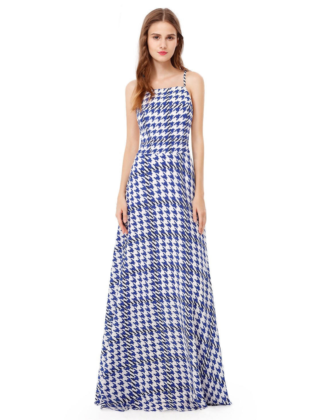 houndstooth maxi dress