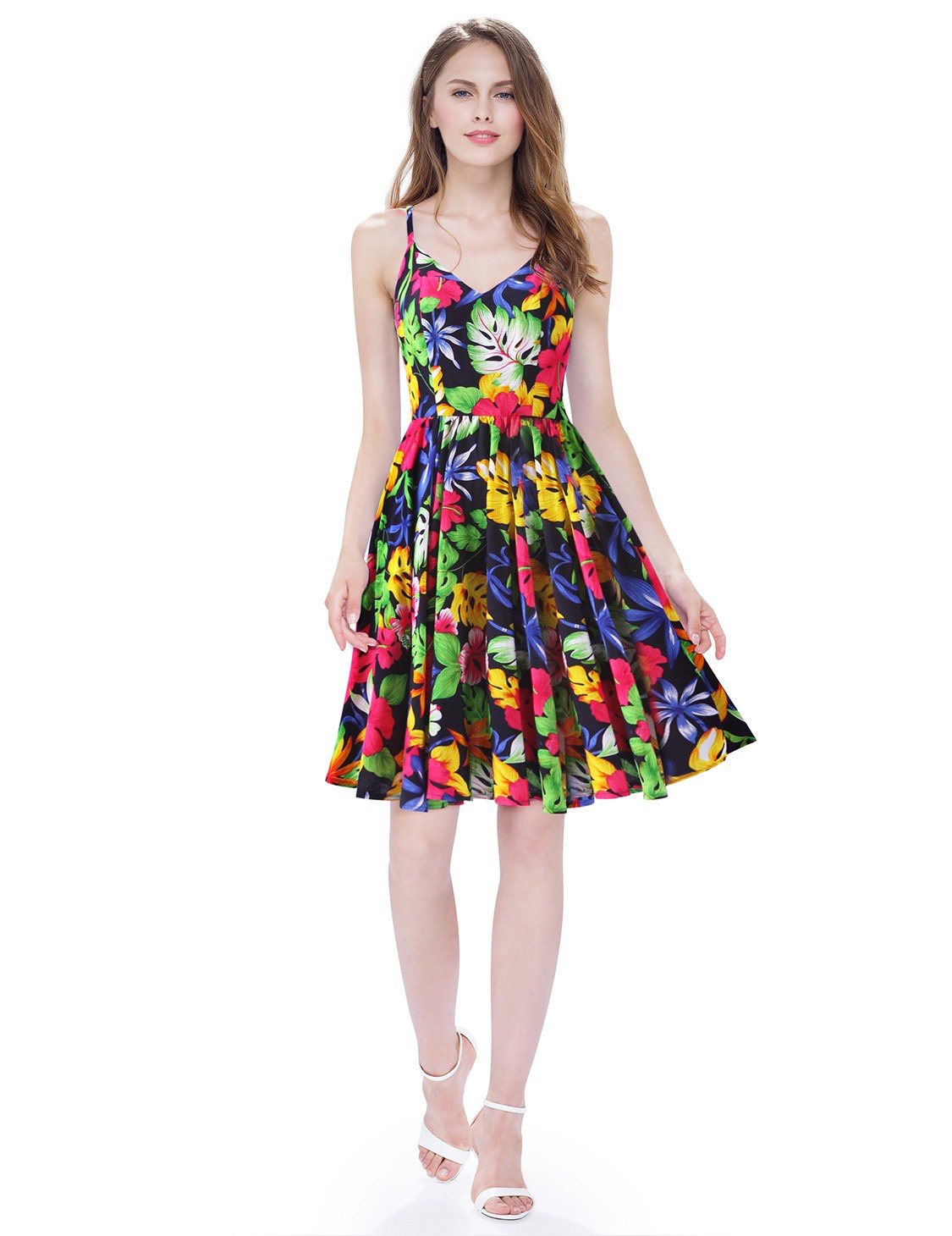 colorful printed sun dress