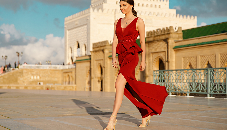 Larisa-with-ever-pretty-long-Burgundy-dress