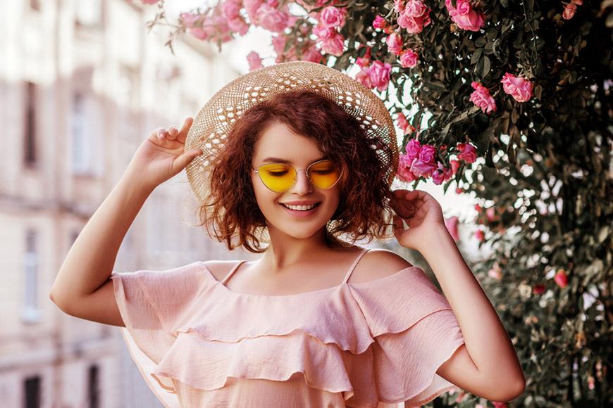 beautiful-girl-in-a-pink-dress-with-ruffles