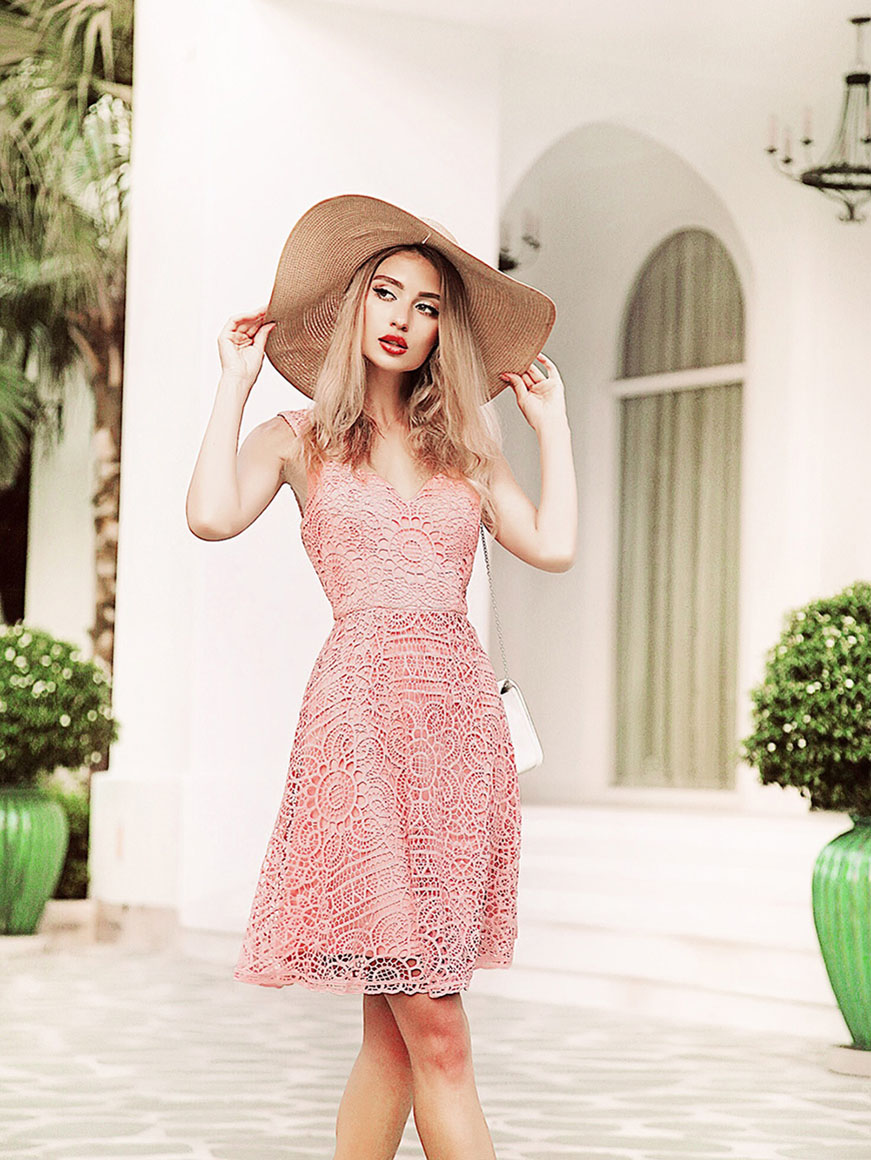 young-girl-in-ever-pretty-lace-pink-dress