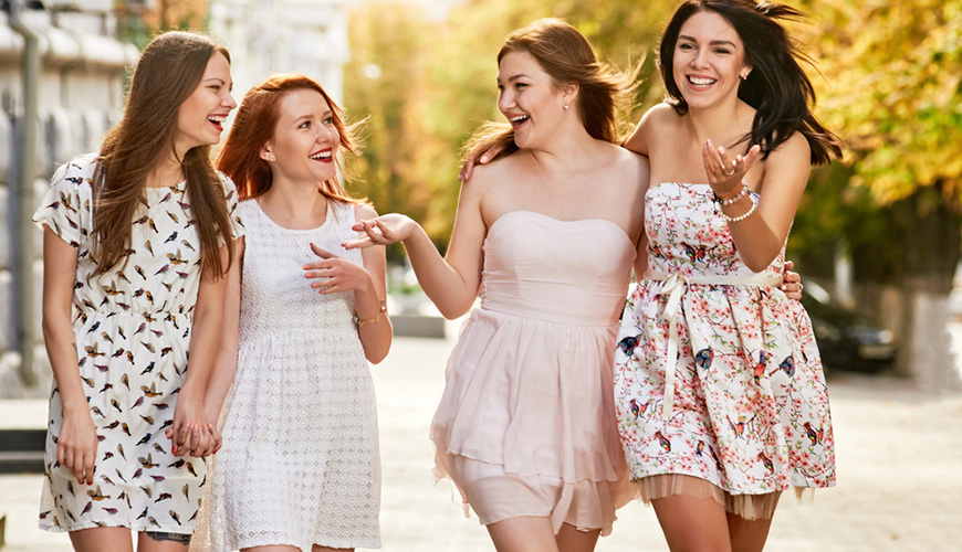 four-teenager-girls-wearing-dresses