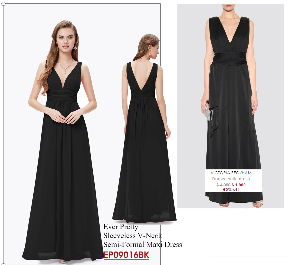 V-neck-Long-Classic-Black-Dresses