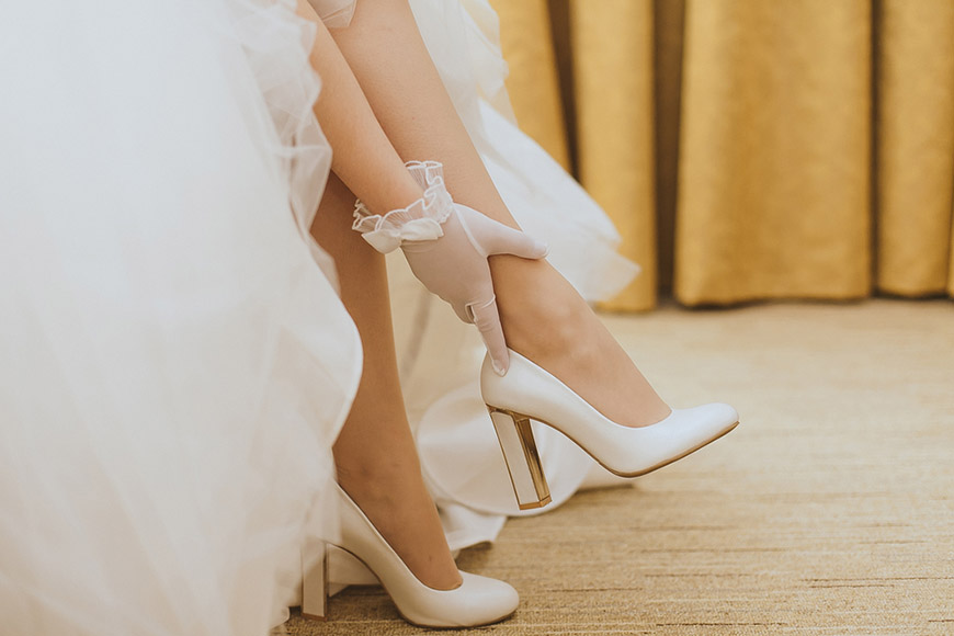 White-high-heeled-shoes
