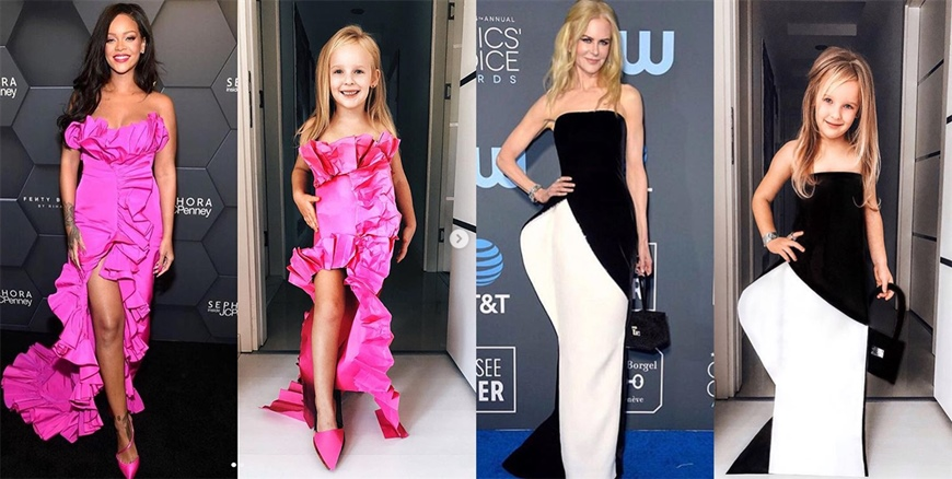 Mother-and-Daughter-Red-Carpet-Recreations