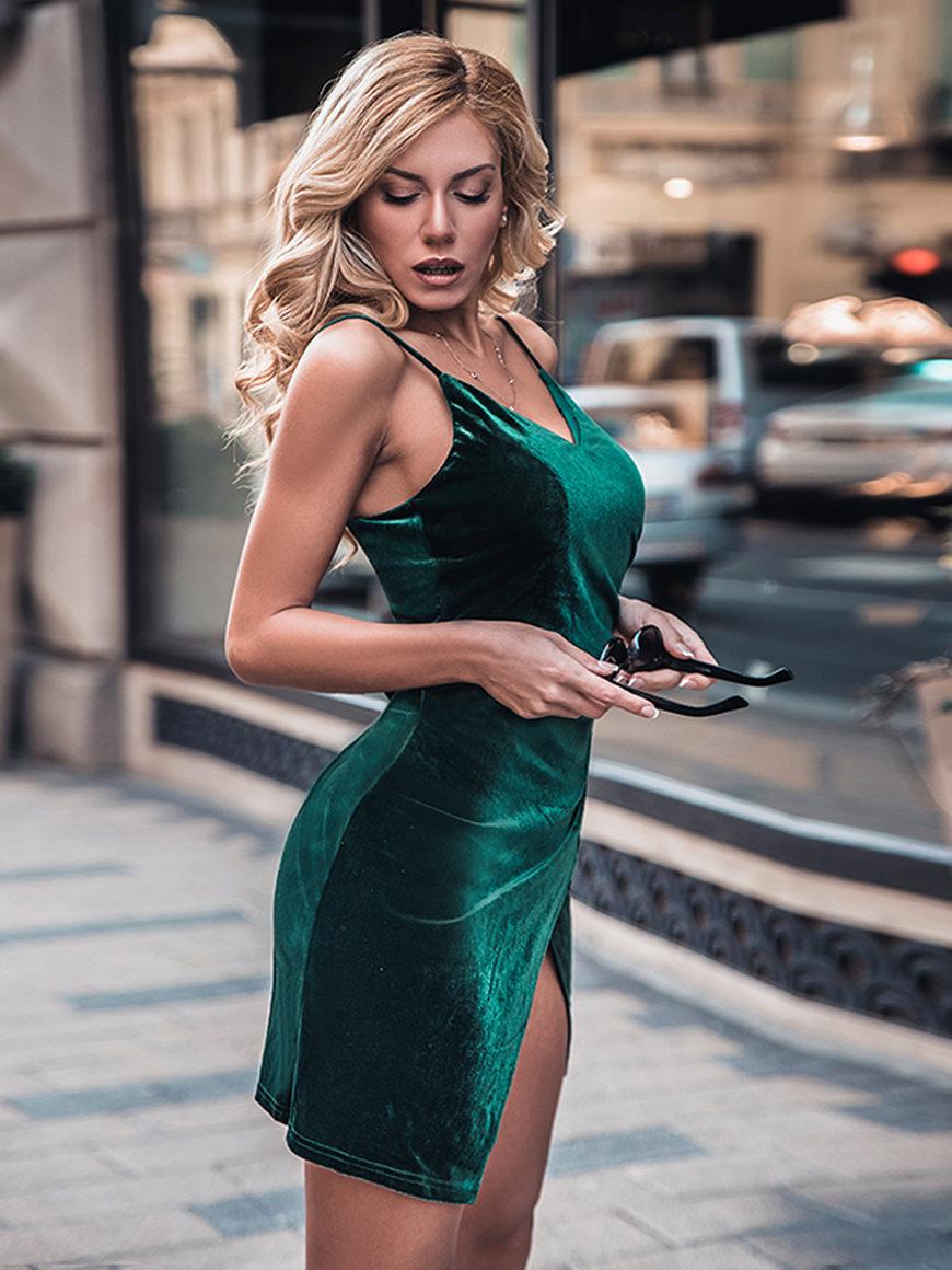 a-dark-green-velvet-dress