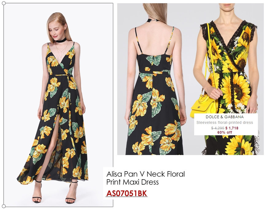 two-yellow-floral-dresses