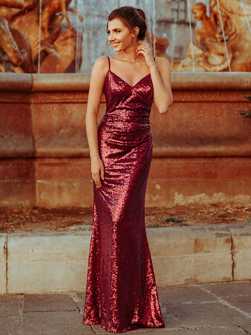 Larisa-wears-a-sequin-dress