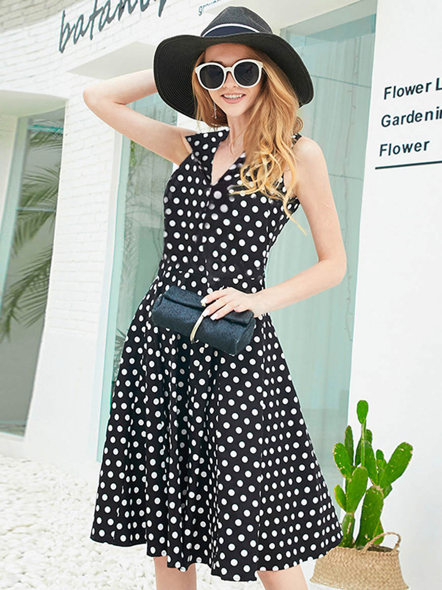 a-woman-wears-a-polka-dot-dress