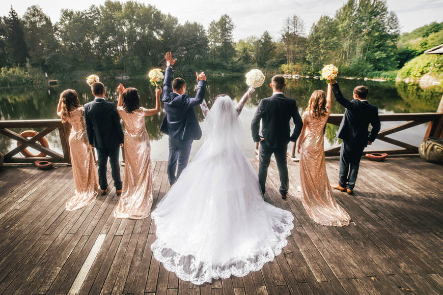 bride-and-bridegroom-with-their-friends