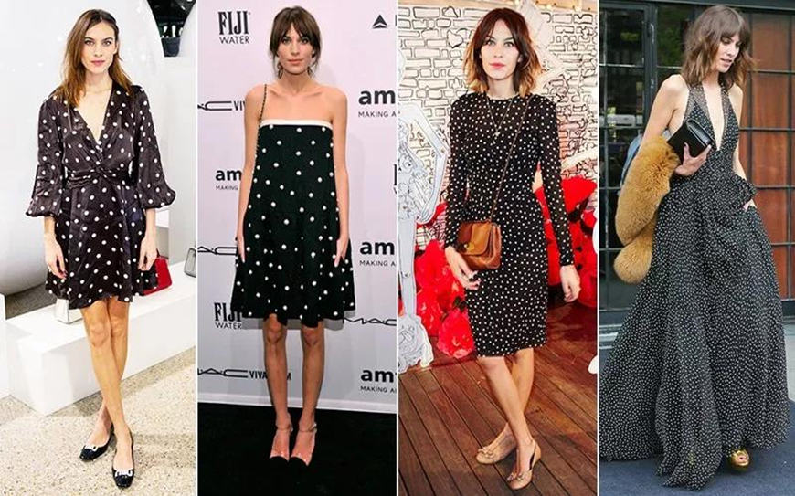 women-wear-black-dresses-with-white-dots