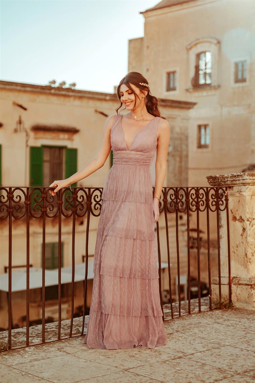larisa-wears-a-long-blush-dress