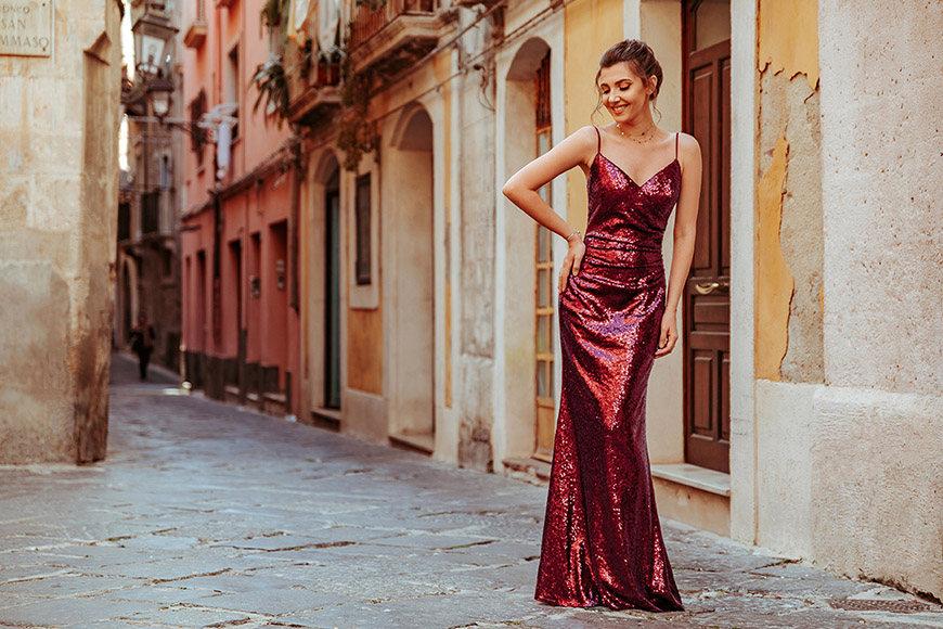 larisa-wears-a-sequin-burgundy-dress
