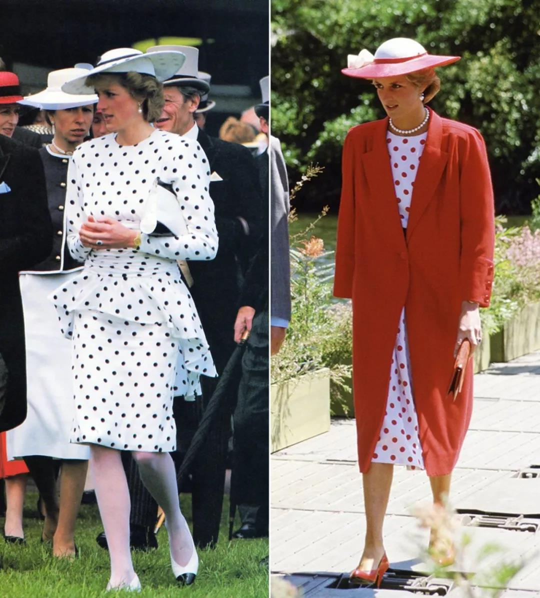 princess-diana-wears-polka-dot-dress