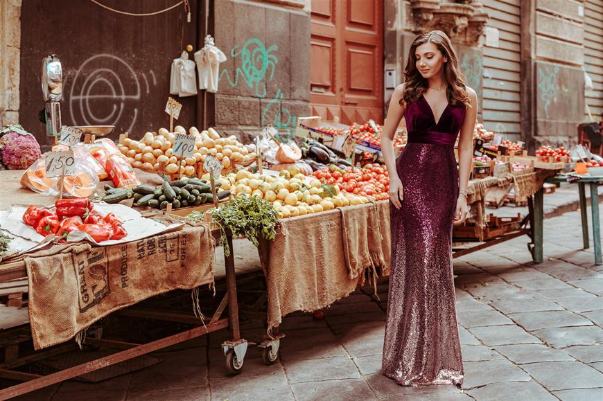 Larisa-wears-a-sequins-dress