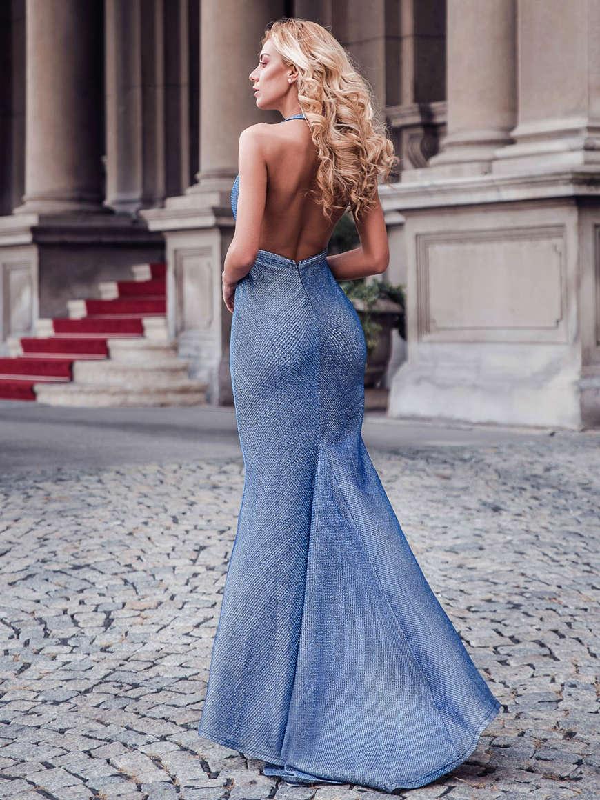 the-back-of-the-deep-V-blue-dress
