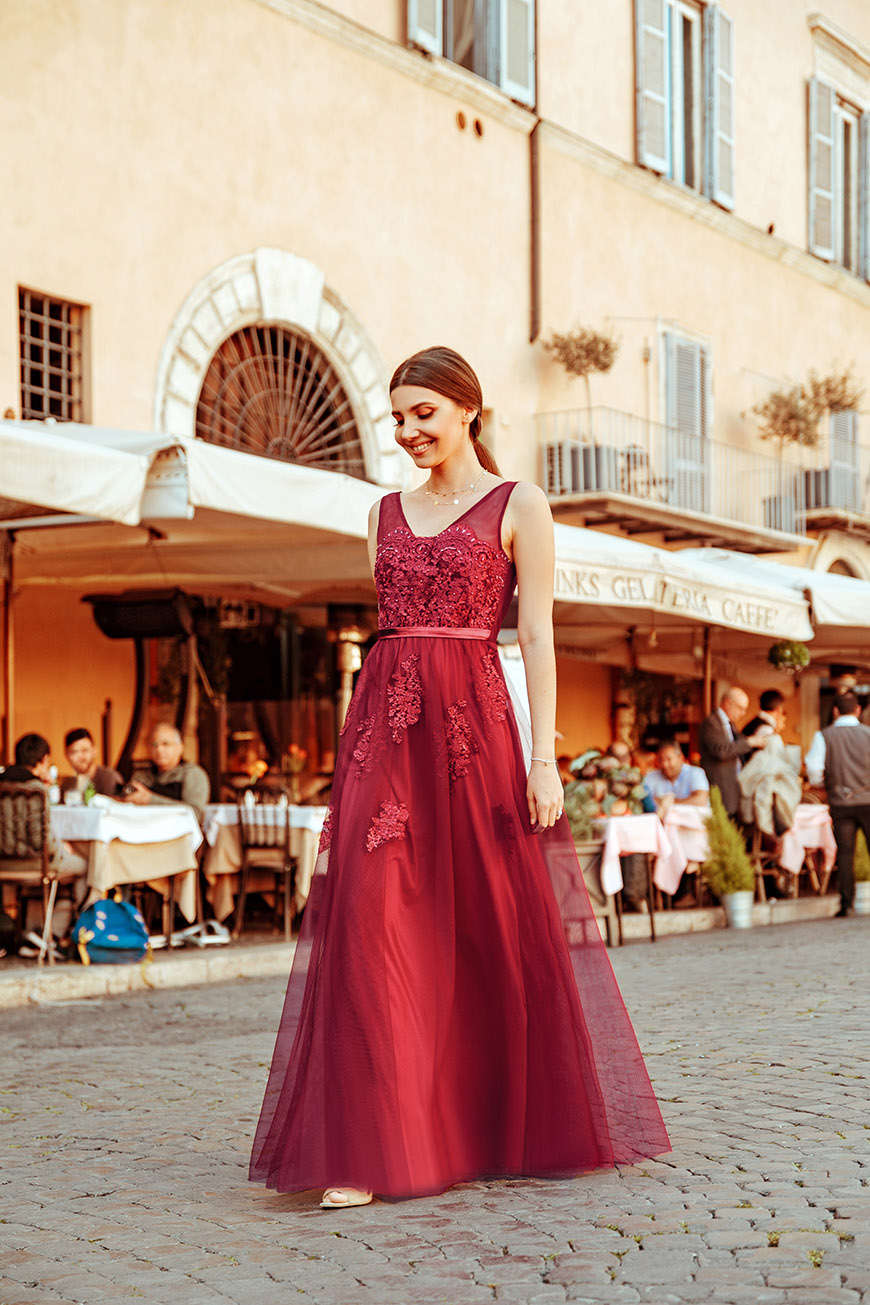 larisa-wears-a-burgundy-dress-with-tulle-skirt