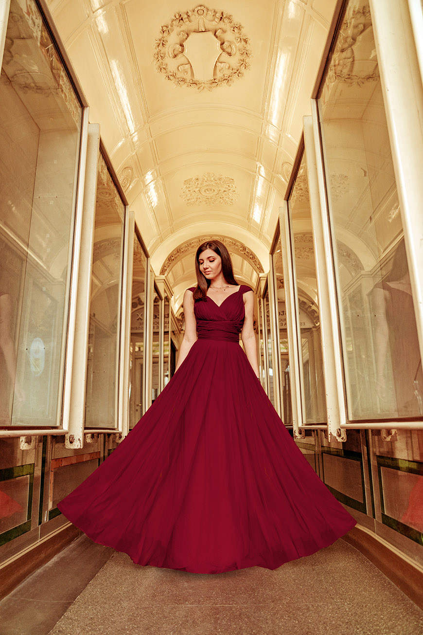 larisa-wears-a-long-burgundy-dress