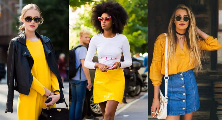 three-women-wear-yellow-items