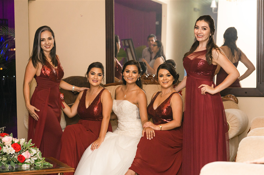 urgundy-bridesmaid-dresses