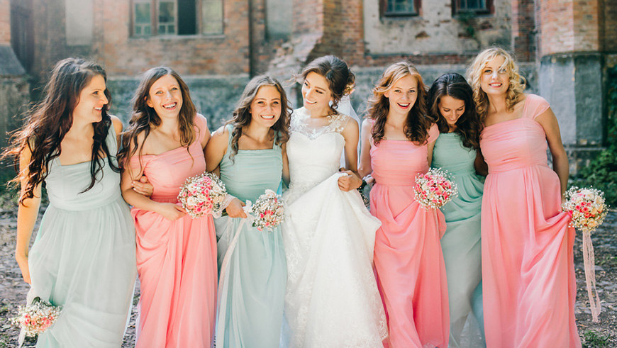 blue-and-pink-bridesmaid-dresses