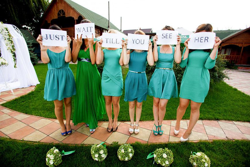 short-blue-bridesmaid-dresses