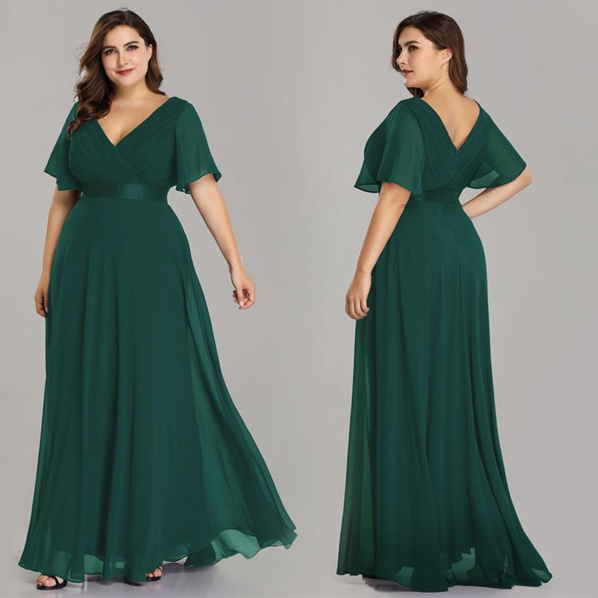 a-green-plus-size-prom-dress