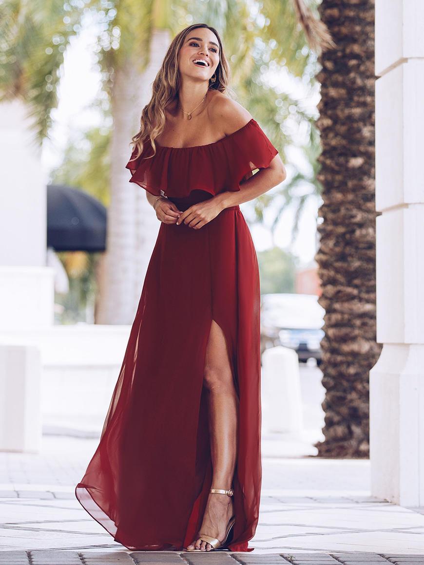 a-burgundy-bridesmaid-dress