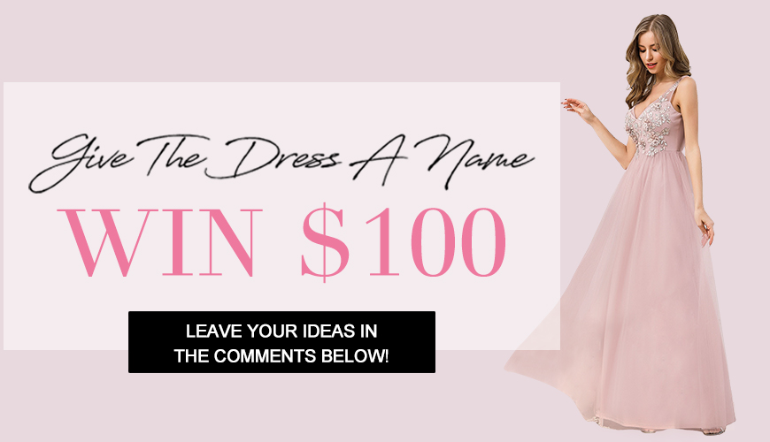 a pink dress