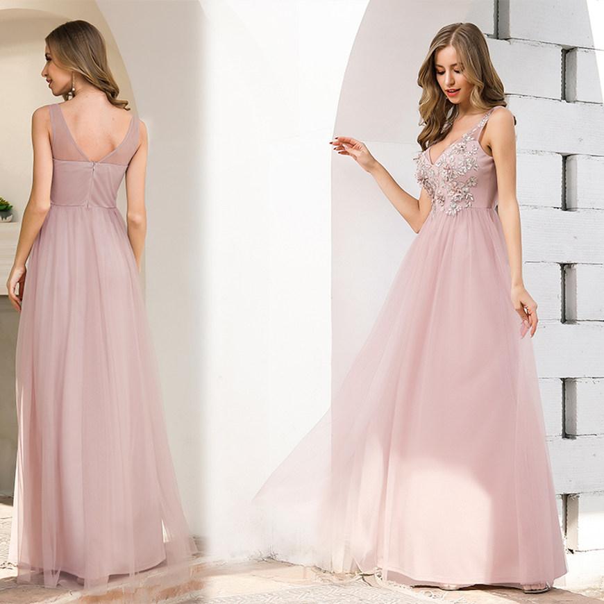 a romantic pink dress