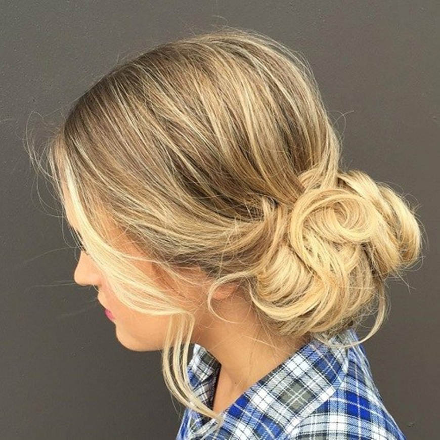 low-curly-updo