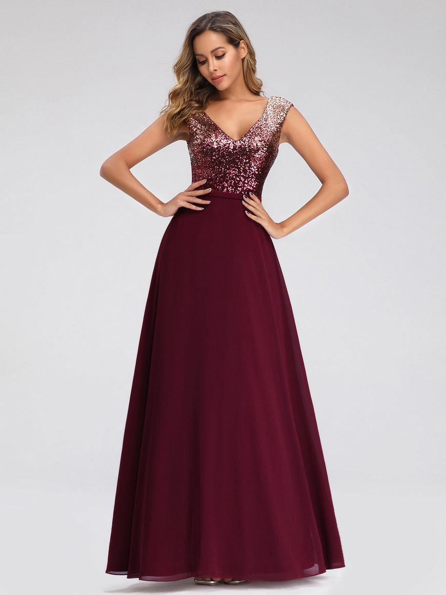a-burgundy-sequin-dress