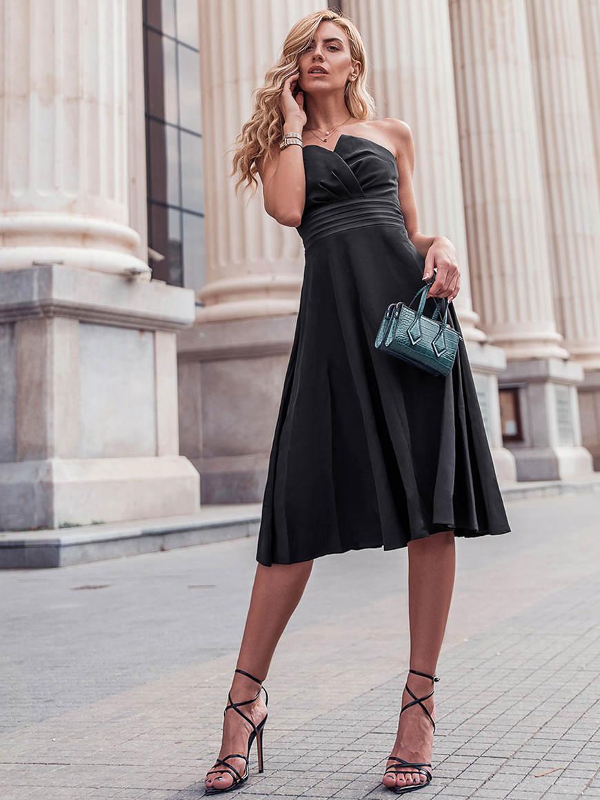 a-short-black-dress