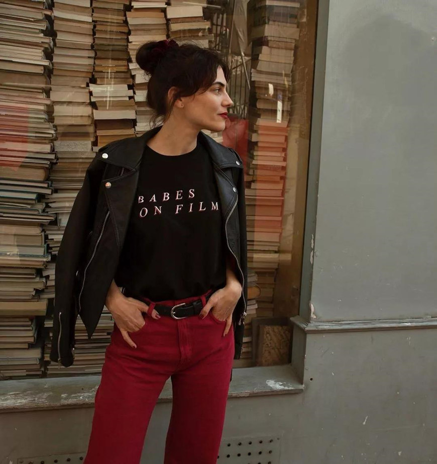 black-tops-and-burgundy-trousers