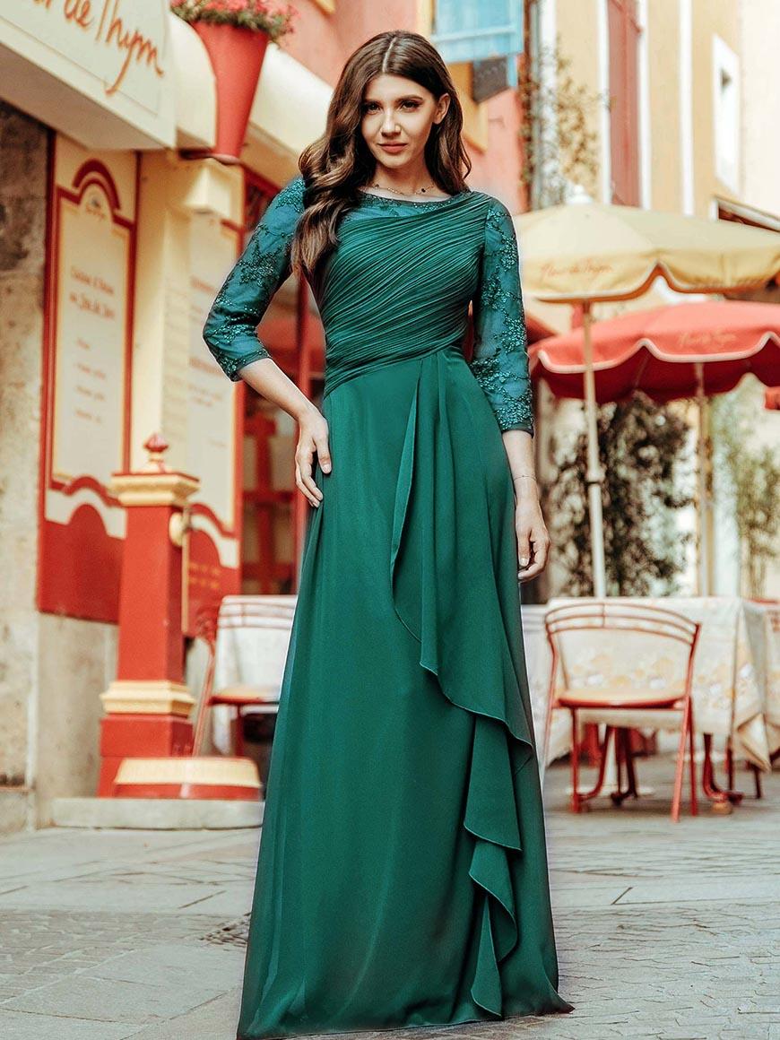 drak-green-long-dress