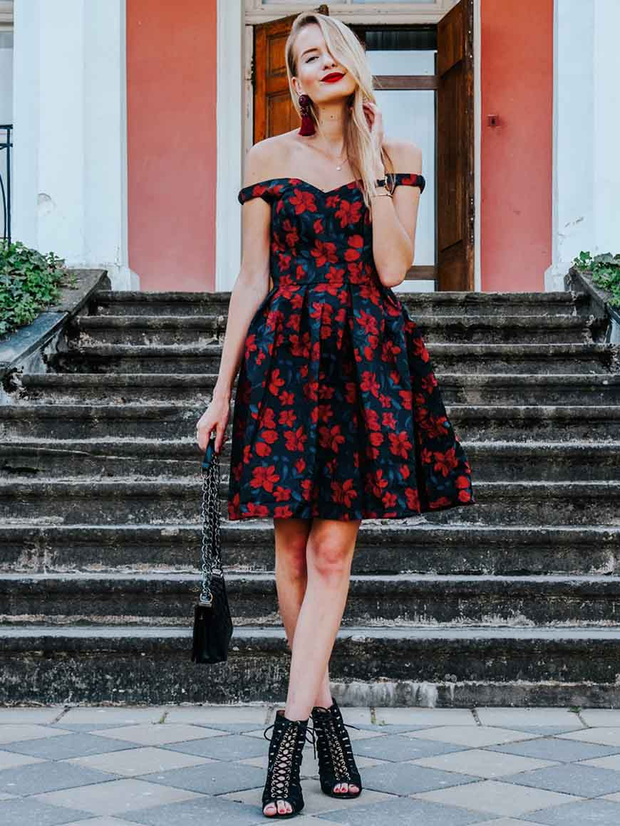 a-black-and-red-dress